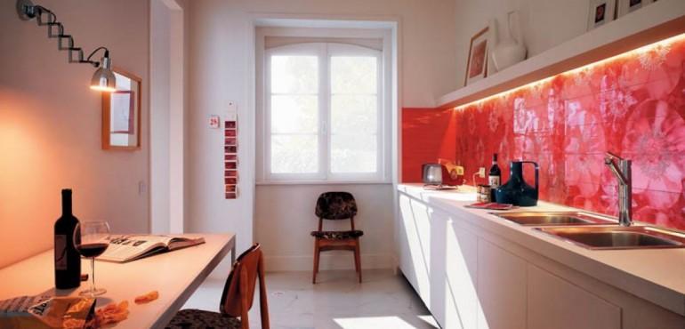 6 красивых кухонь с плиткой Fap Ceramiche