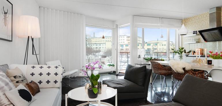 Стокгольмская квартира в скандинавском стиле