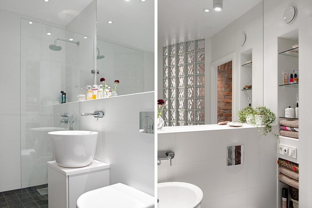 интерьер белой ванной