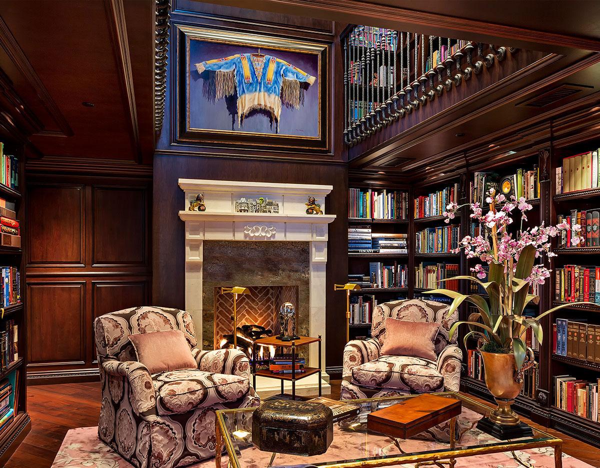 гостиная с библиотекой