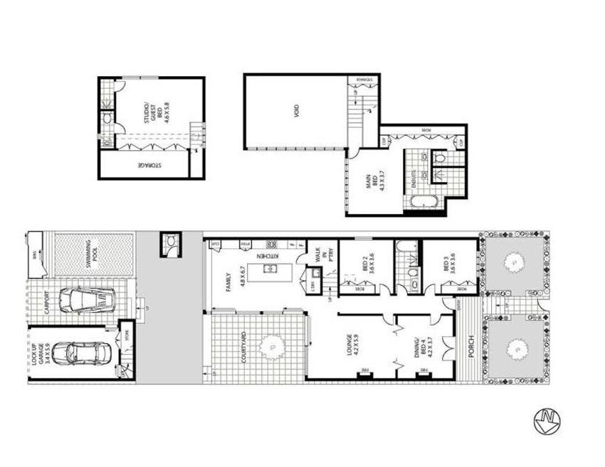 план двухэтажного кирпичного дома