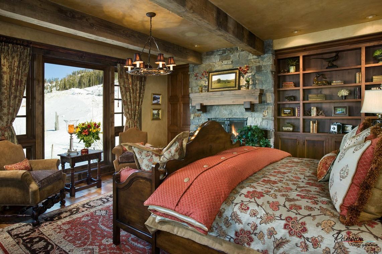 Классические люстры в спальне