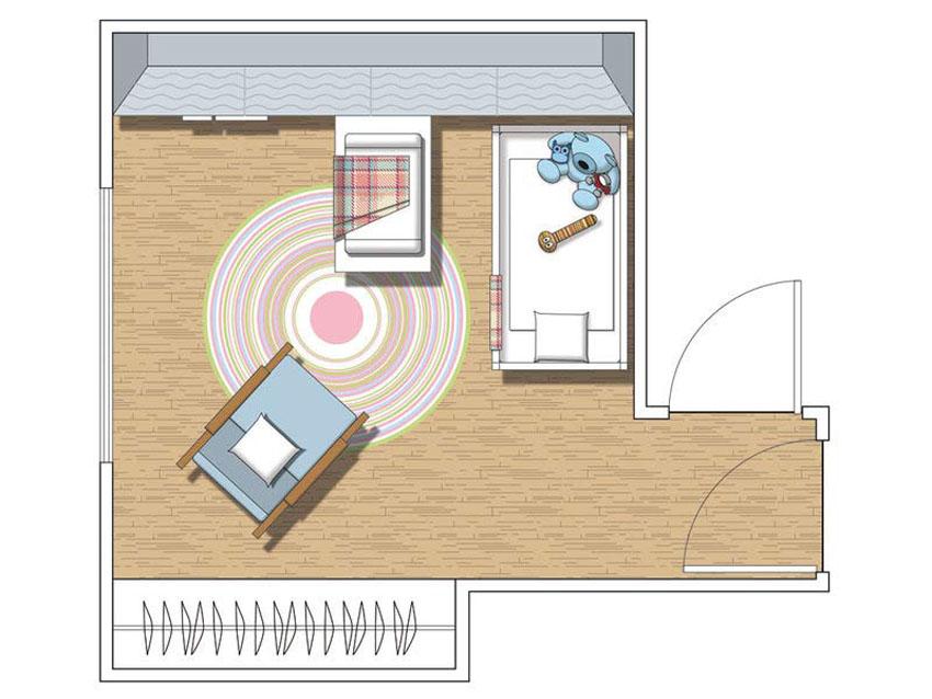 планировка пространства в детской