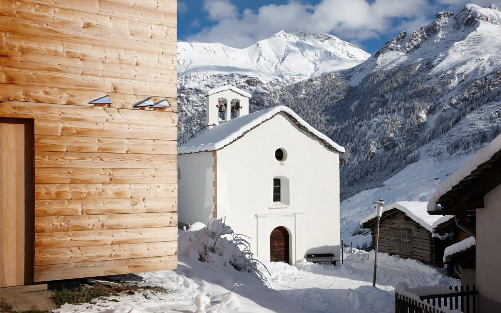 Зимний домик в Швейцарии