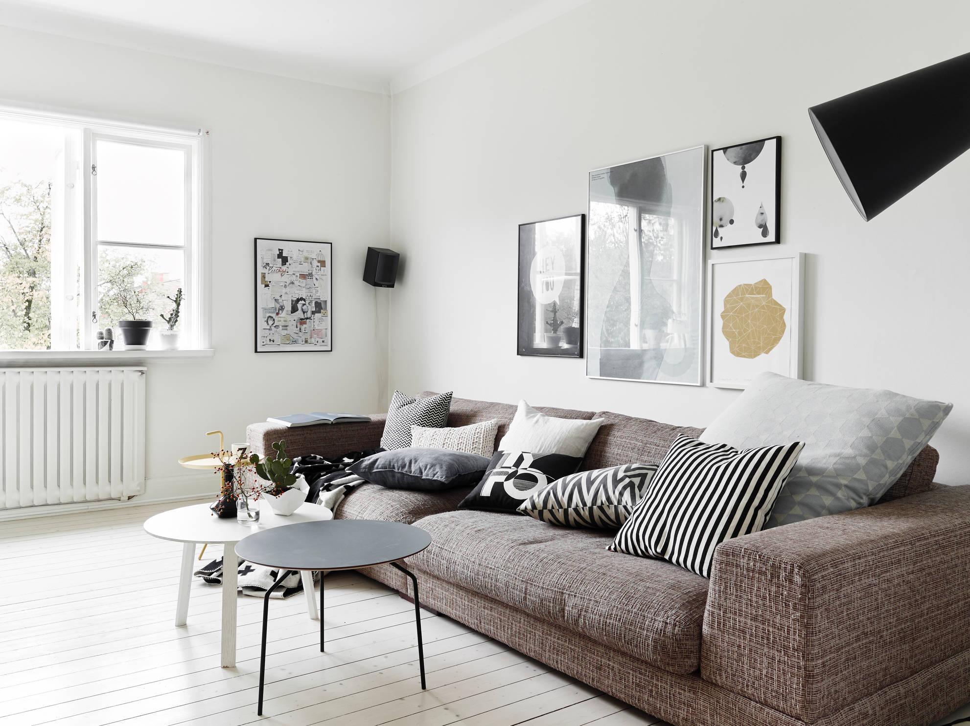 Черно-белая квартира дуплекс