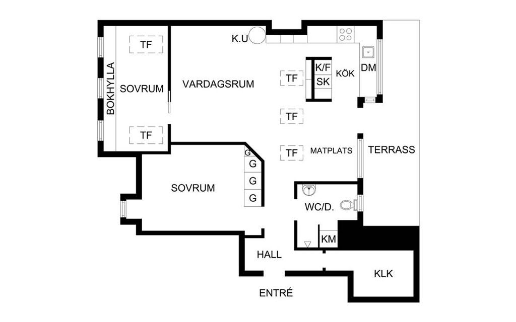 план квартиры на 80 м2