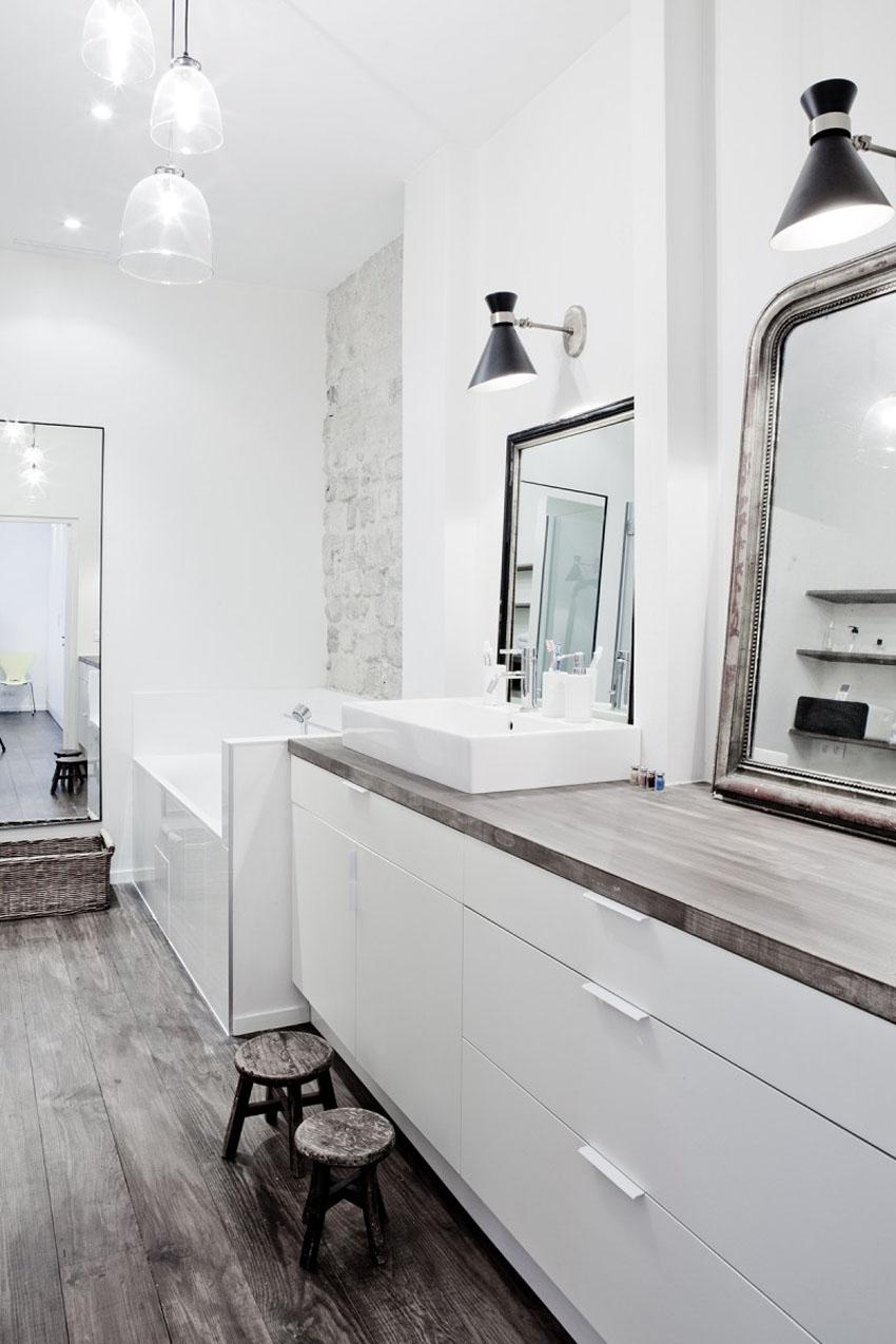 стиль лофт ванная