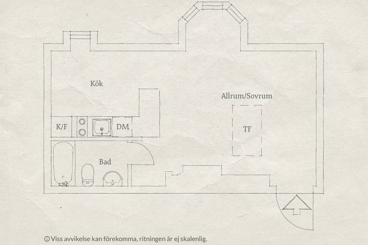 план квартиры студии