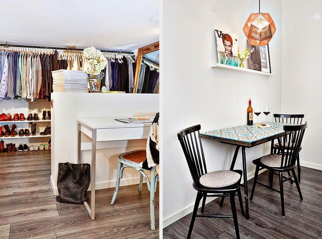 гардероб и обеденный стол