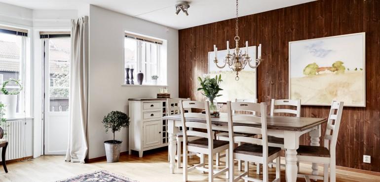 Стильная двухуровневая квартира из Стокгольма