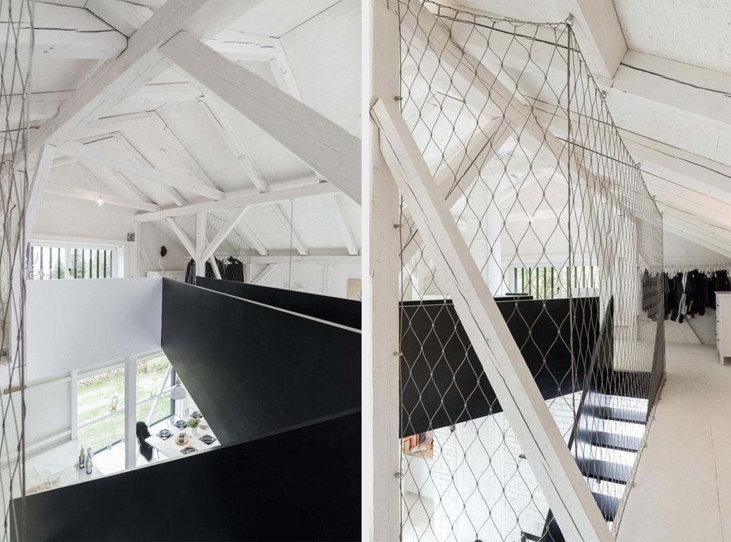черно белый дизайн дома