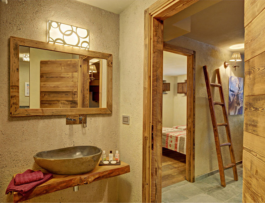 интерьер в деревянном доме