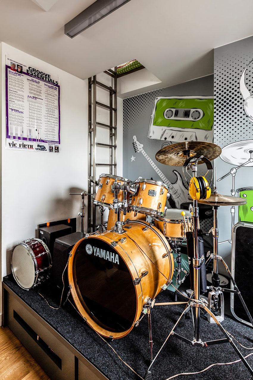 барабанная установка дома