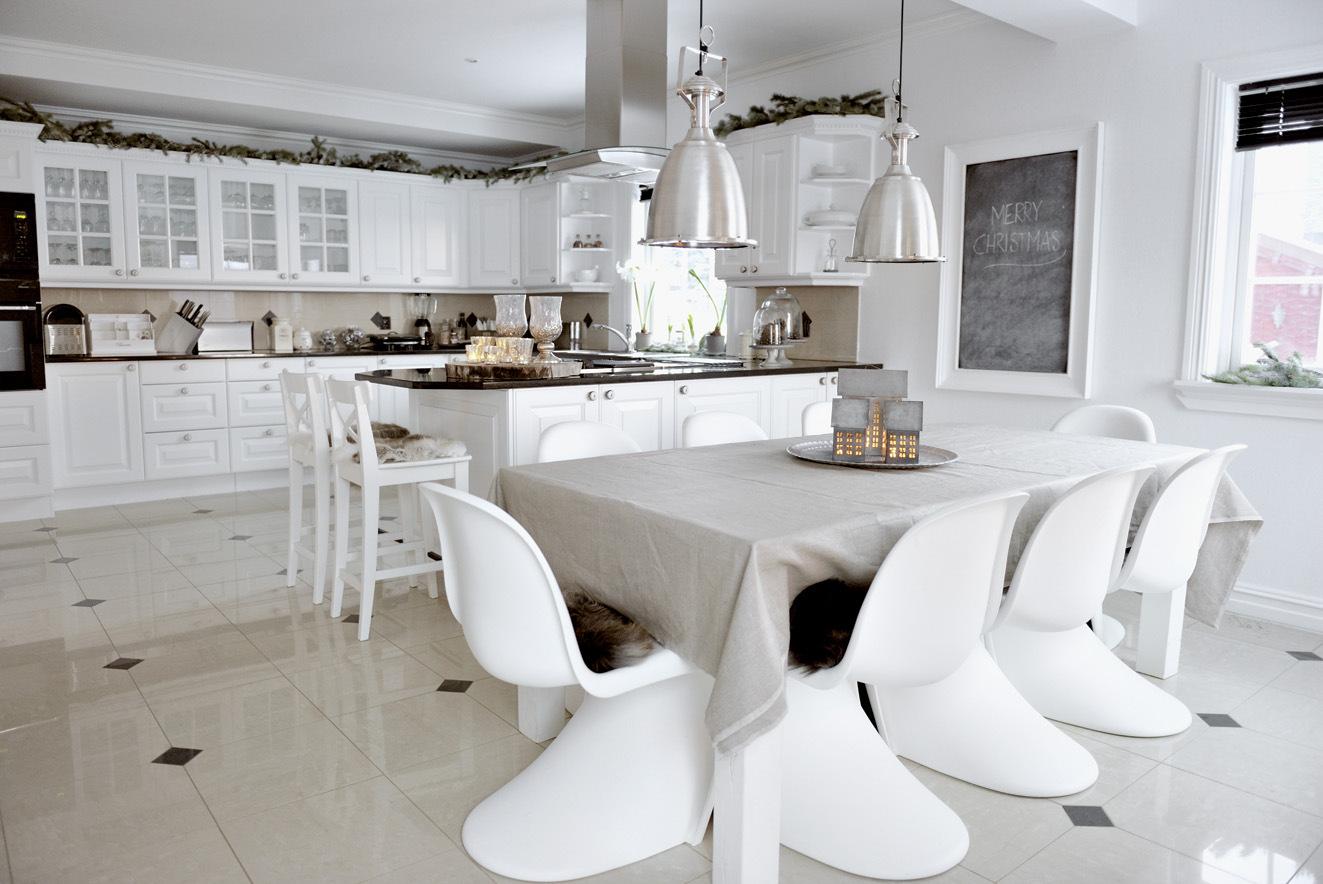 новогодняя кухня в скандинавском стиле