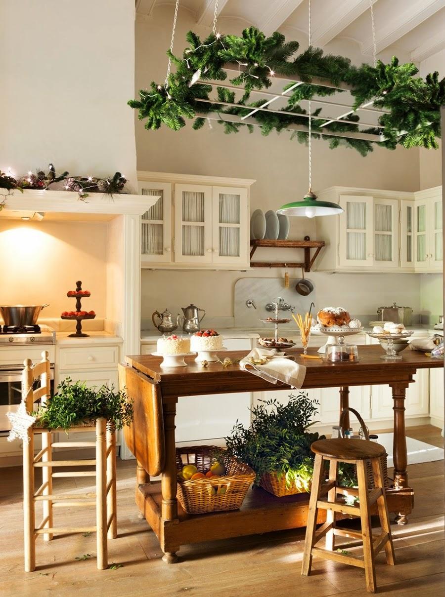 дизайн интерьера кухни на рождество