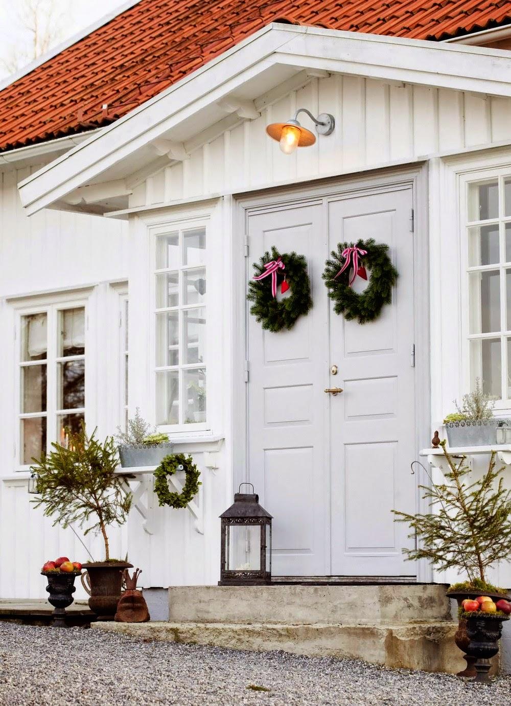 оформление двери на новый год