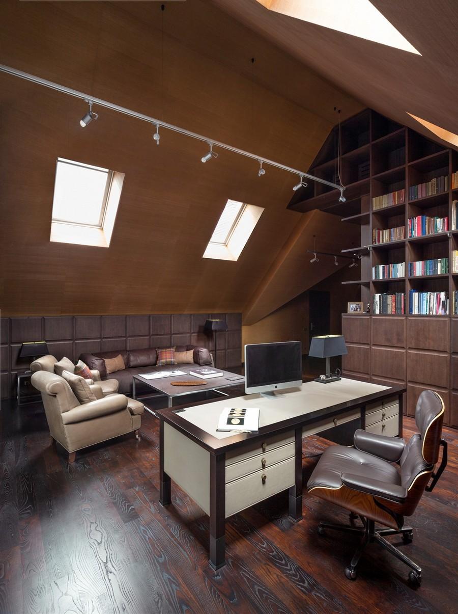 офис в мансарде фото