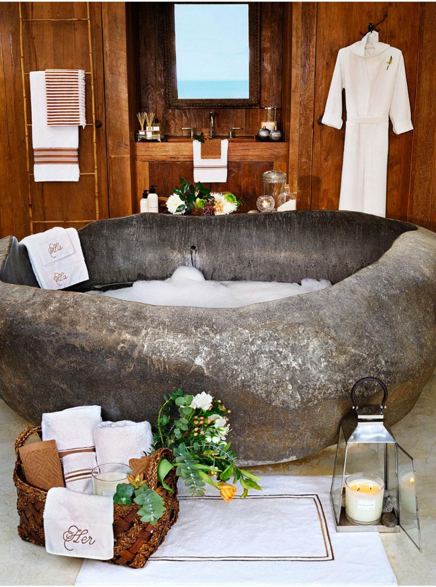 ванная из камня фото