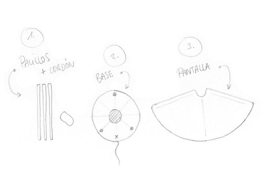 план сборки светильника