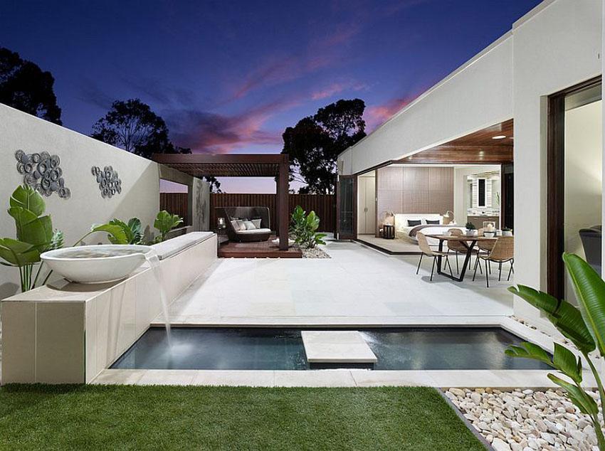 красивый дом с бассейном фото