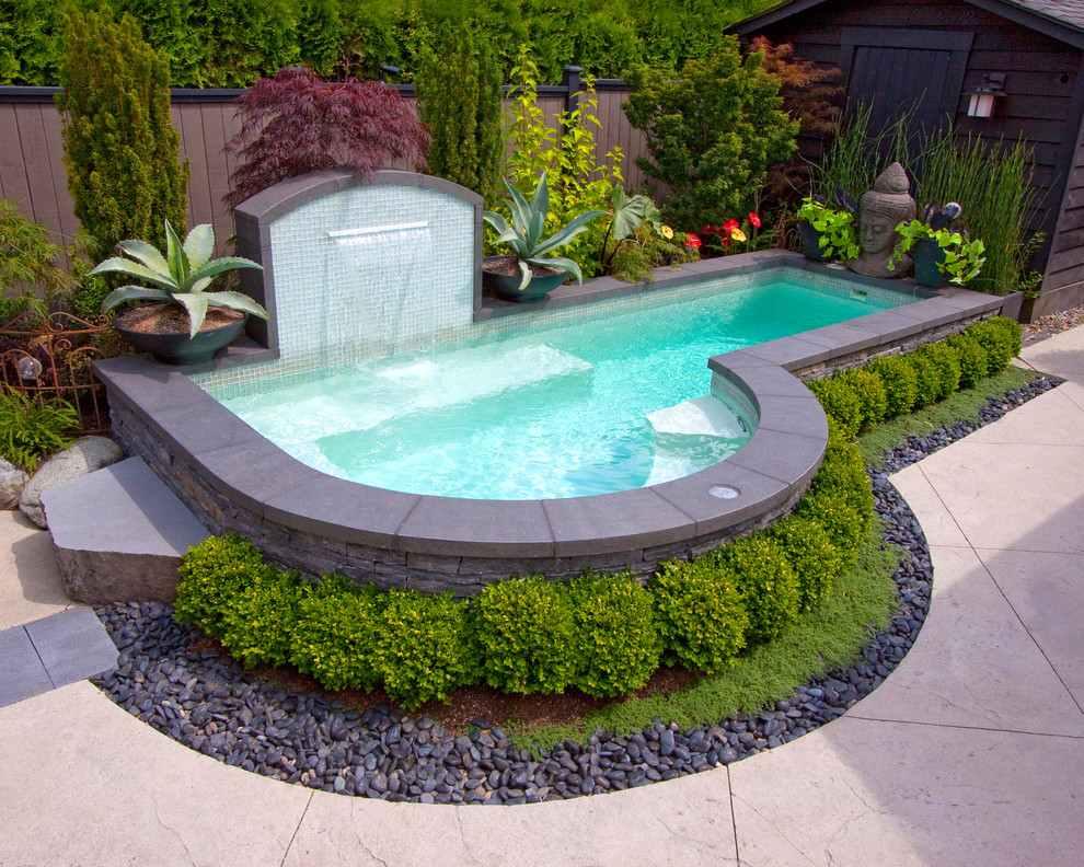 красивый бассейн с каскадом фото