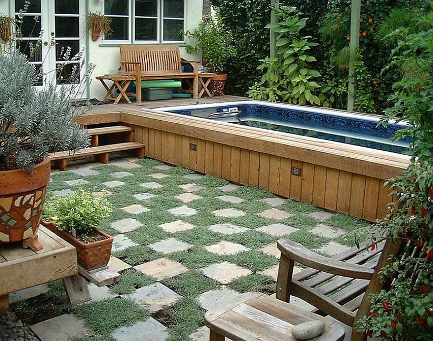 красивый дизайн небольшого бассейна