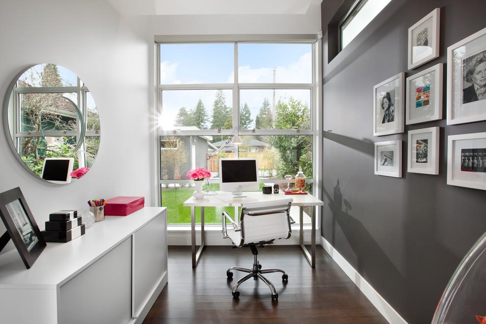 интерьер домашнего кабинета фото