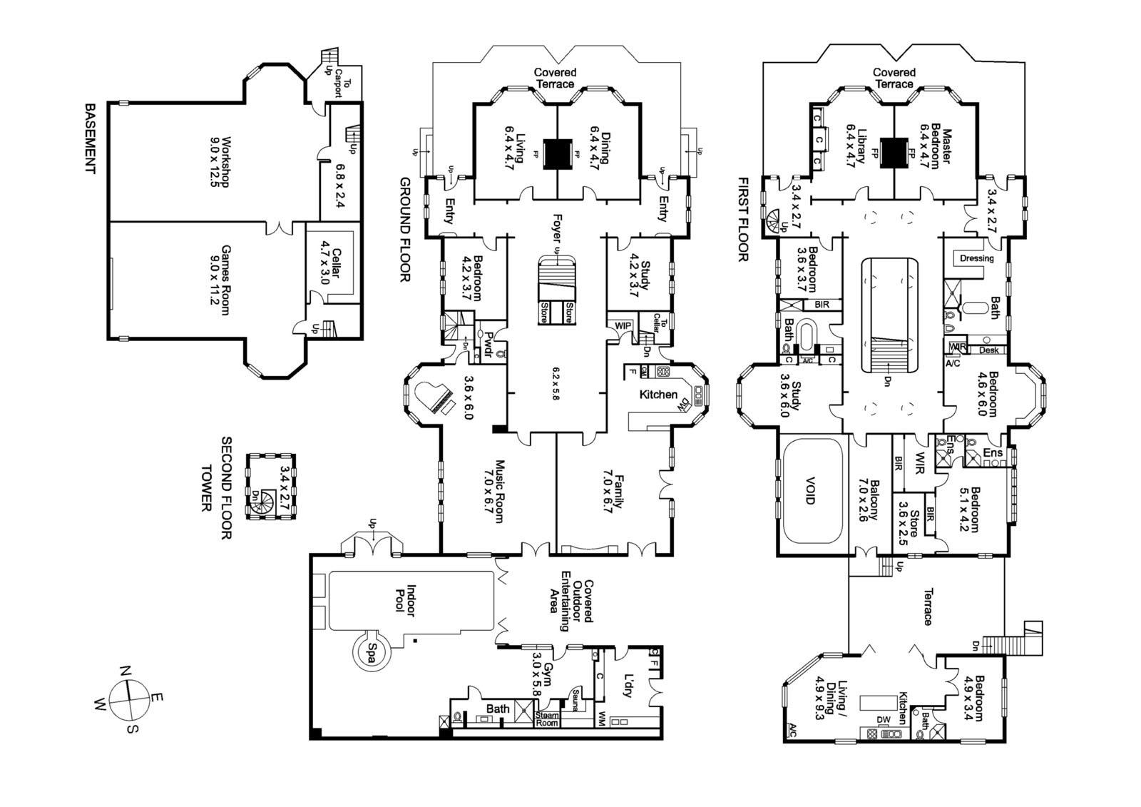 планировка двухэтажного дома