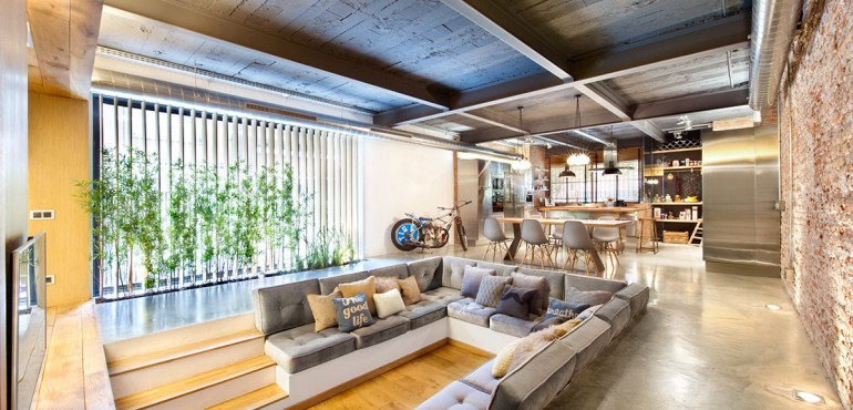 Стильная квартира в стиле лофт