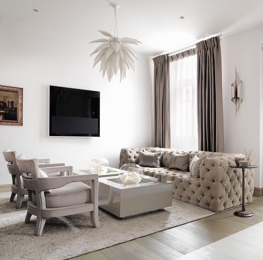 Дизайн квартиры в классическом стиле от Келли Хоппен
