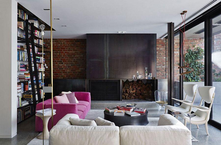гостиная с камином дизайн