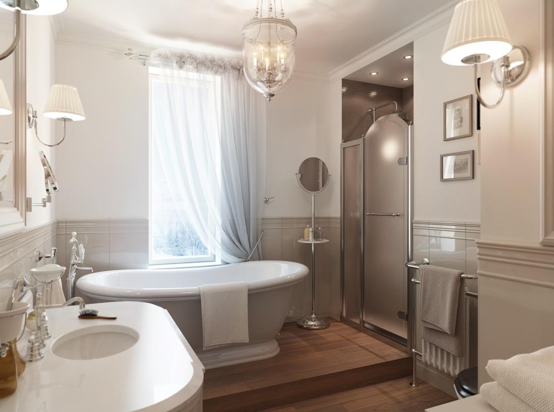 Красивые ванные комнаты в классическом стиле