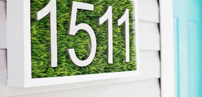 Оформление номера дома