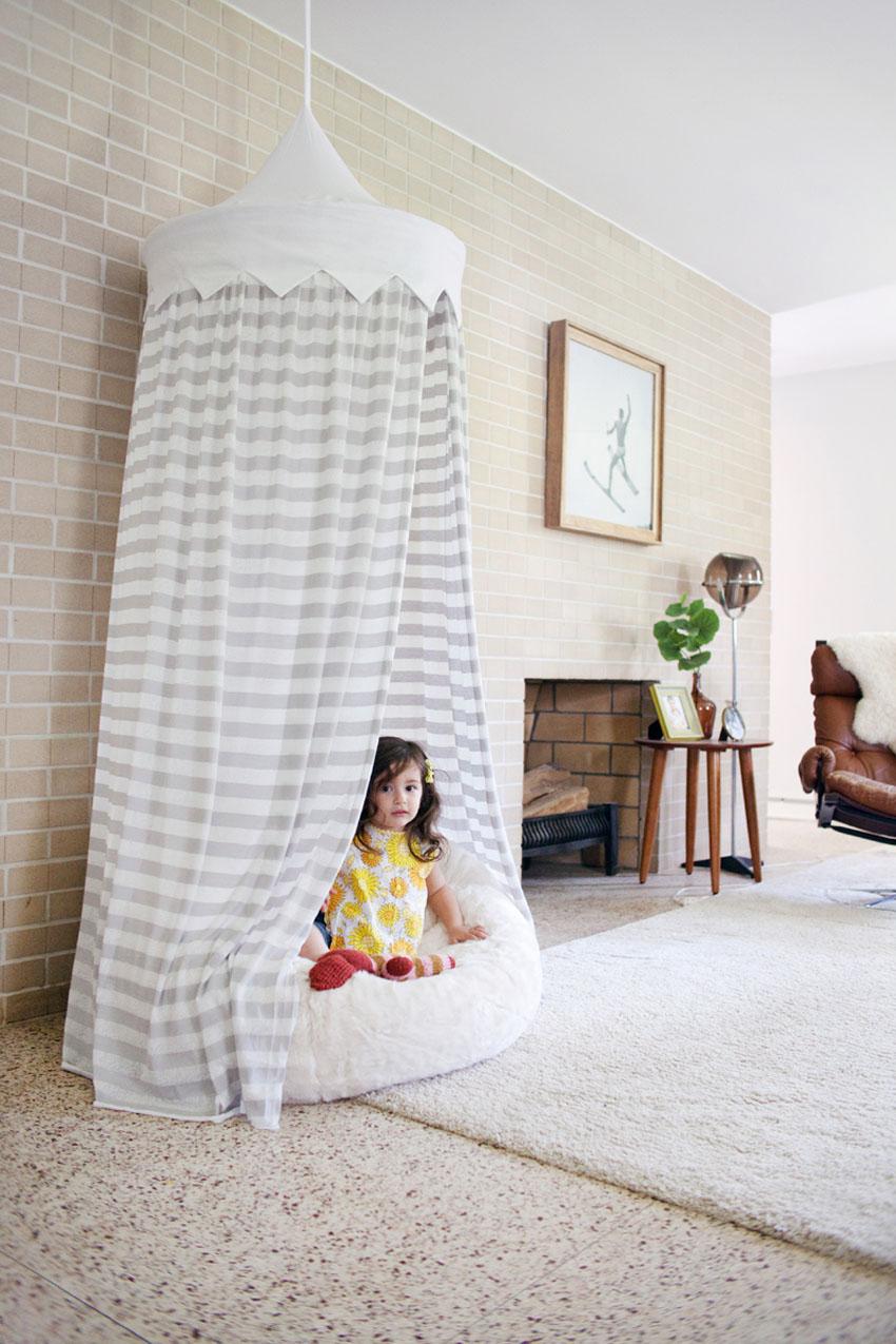 Шатер для девочки своими руками в квартире
