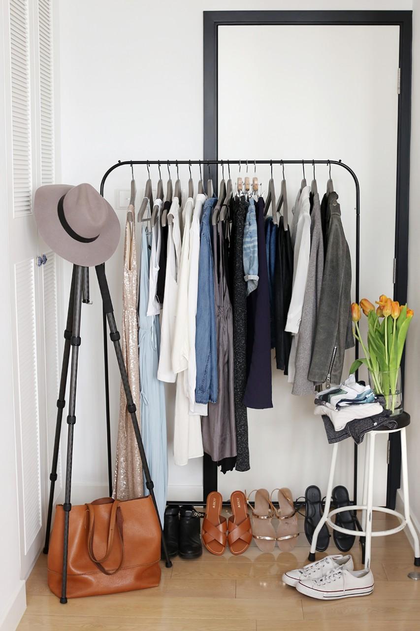 открытая гардеробная в квартире
