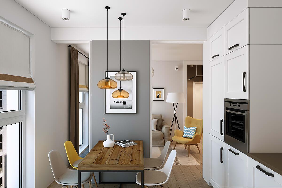 дизайн проекты однокомнатных квартир