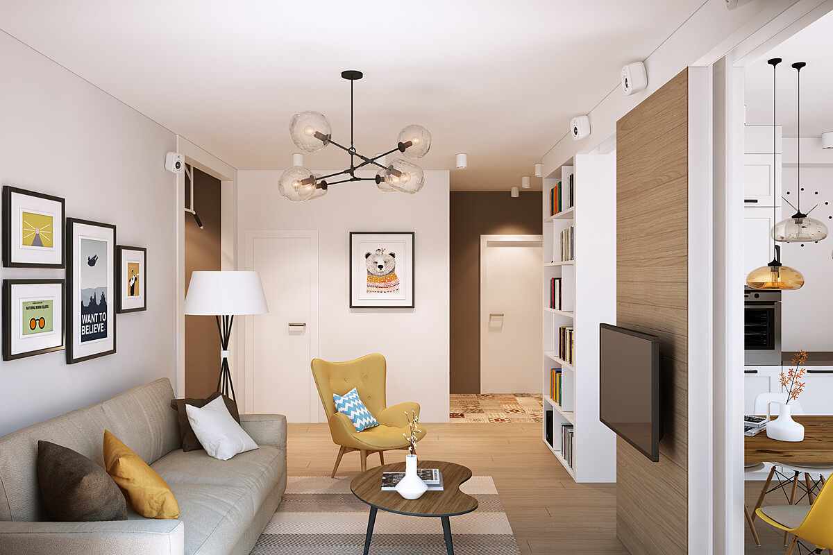 как обставить однокомнатную квартиру