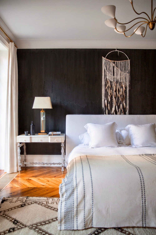 черная спальня дизайн