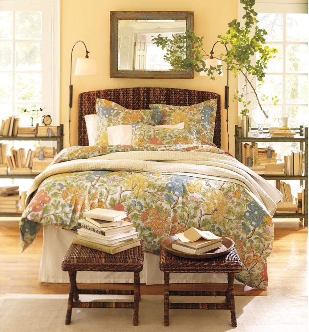 желтая спальня фото