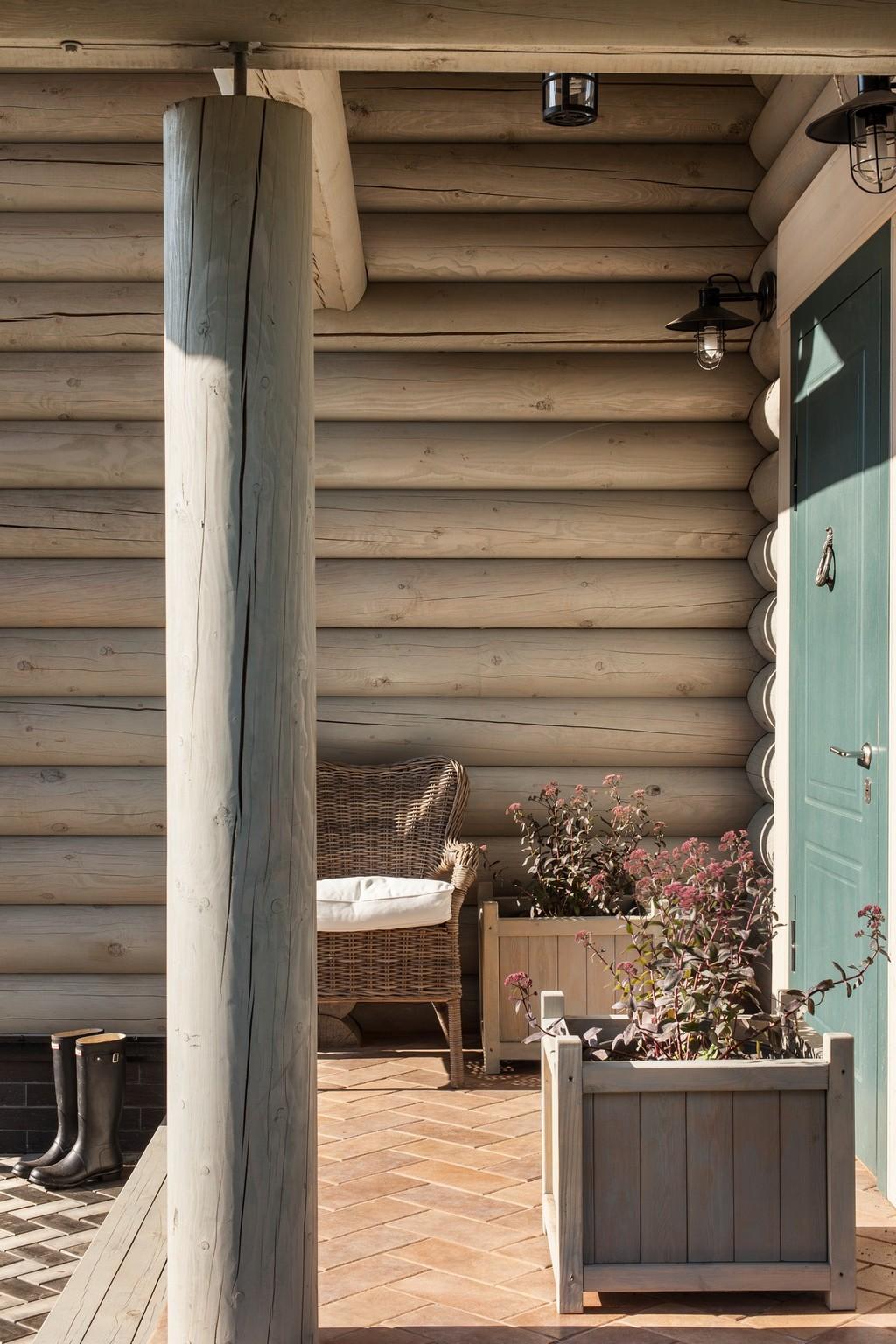 деревянный дом терраса