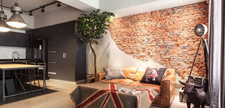 Квартира с оголенными стенами