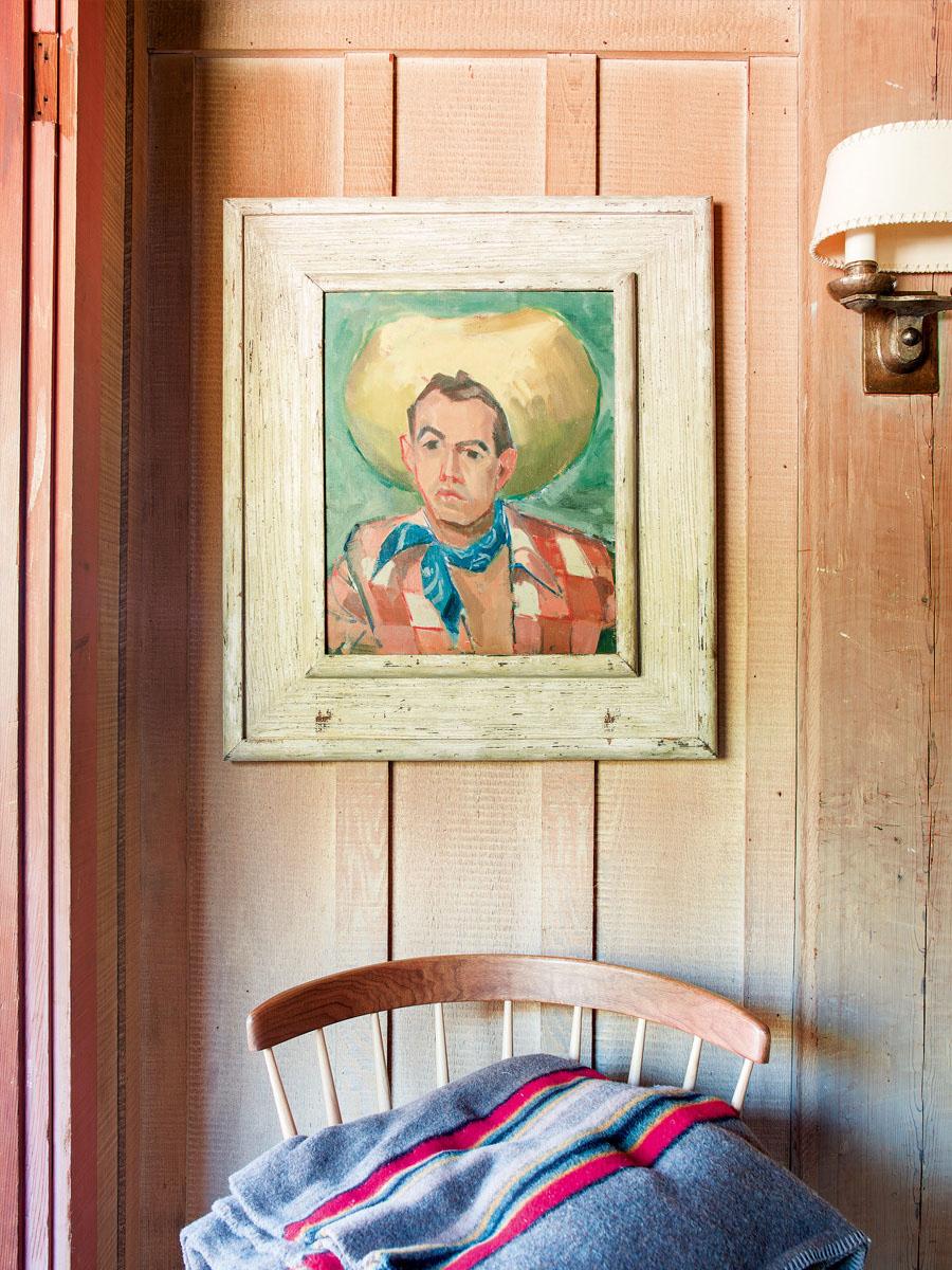 деревянный интерьер дома