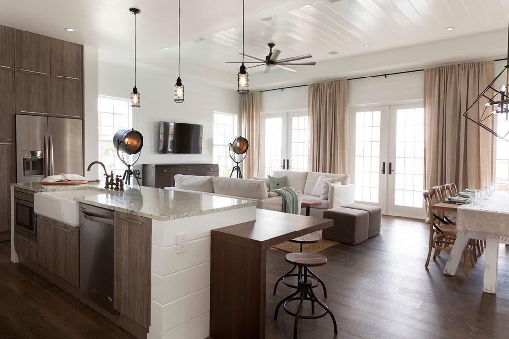 Дизайн кухни-студии: 12 идей