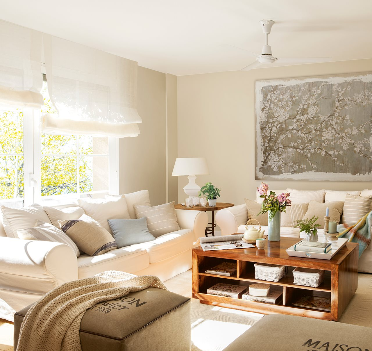 Уютный дизайн трехкомнатной квартиры