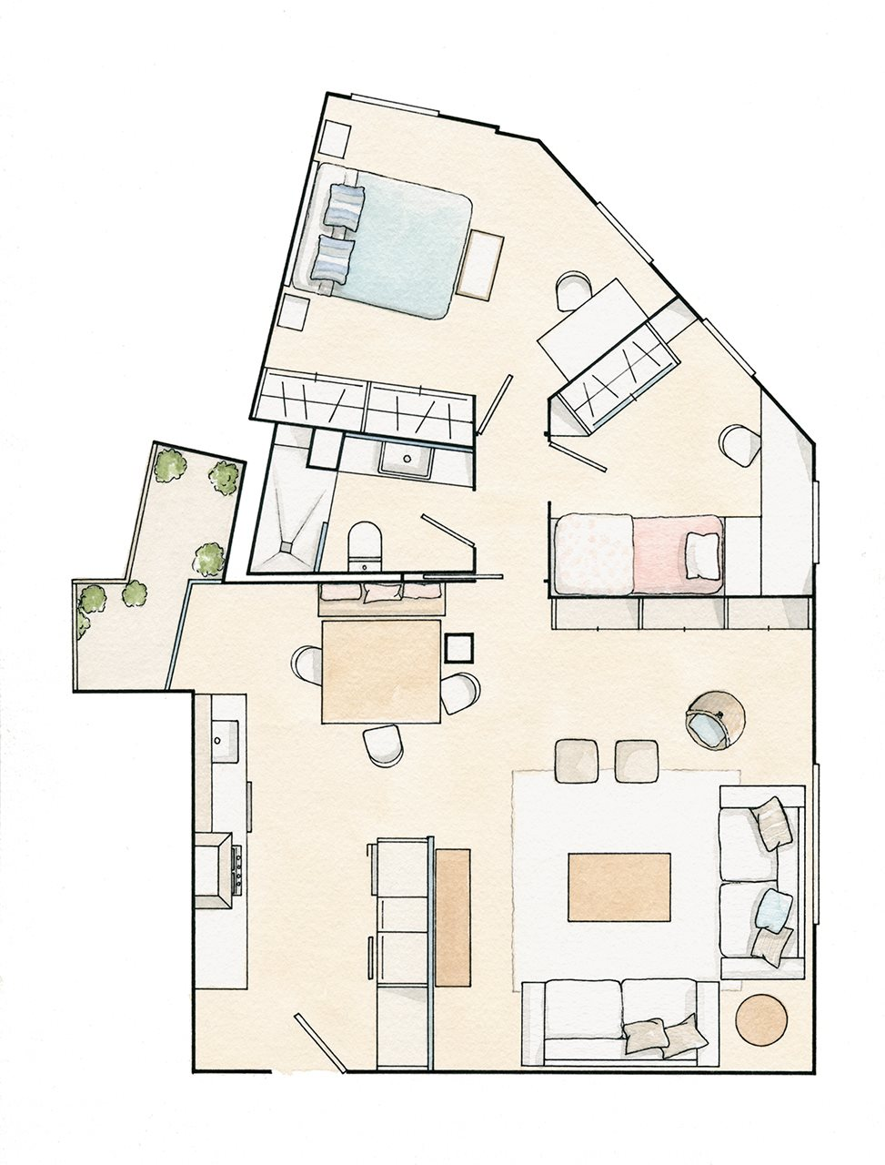 Дизайн трехкомнатной квартиры 60 кв м фото