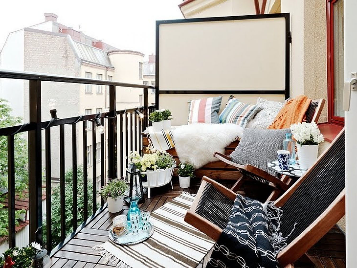 Балкон в квартире - фото примеры ярких идей для дизайна балк.