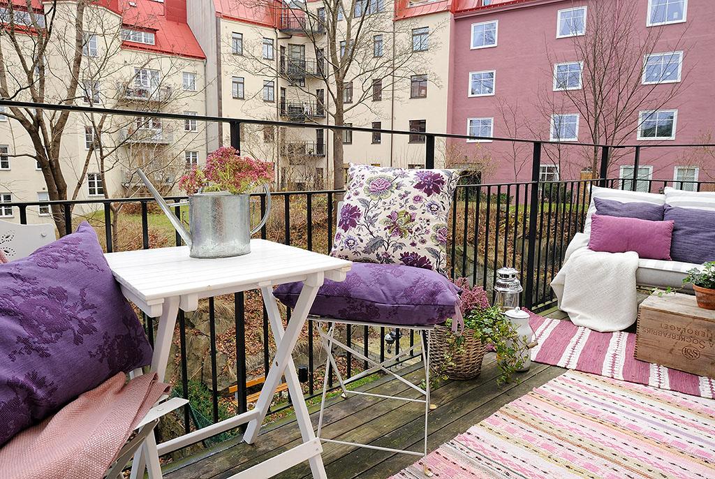 Балкон в скандинавском стиле фото..