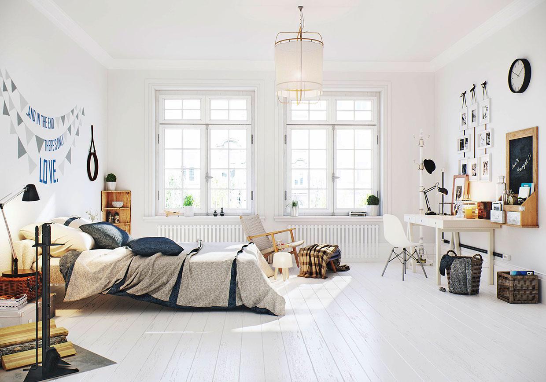 дизайн интерьер спальни фото