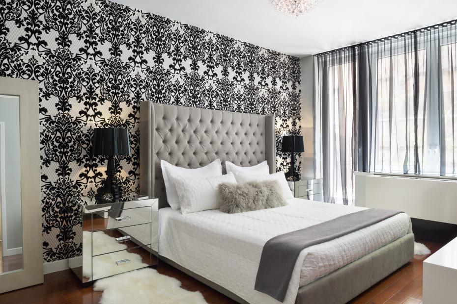 Обои для спальни: 36 идей оформления