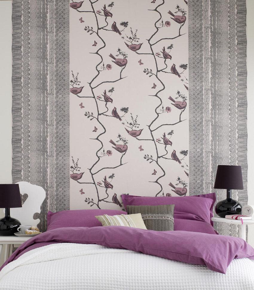 дизайн обоев спальни